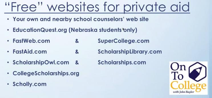 Wahoo Public Schools - College, Scholarship & Financial Aid Information